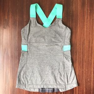 Lululemon cross-back tank w built-in bra